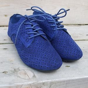 Blue 'Suede' Shoes